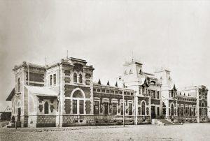 Железнодорожный вокзал на станции Дербент, н. ХХ в.