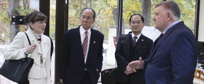 Японская делегация в ДагГАУ