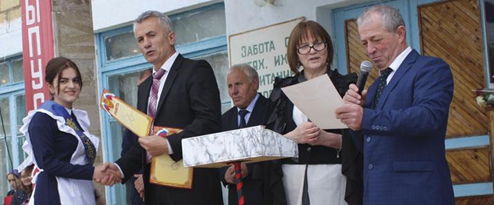 Награждение выпускников в Уркарахском многопрофильном лицее